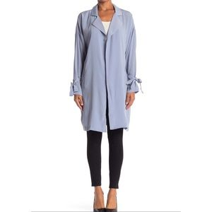 NWT Lush Blue Textured Trench Coat
